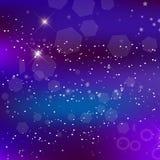 传染媒介能量意想不到的方形的背景 Blurred发光的星系 向量例证