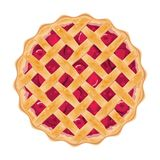 传染媒介自创果子和莓果饼 免版税库存照片