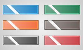 传染媒介色的平的框架按钮 免版税库存图片