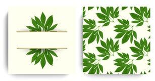 传染媒介花卉设计卡片 皇族释放例证