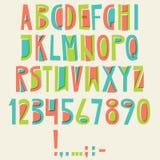 传染媒介英国拉丁字母 信件,数字,标志 Isolat 库存例证