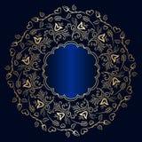 传染媒介葡萄酒圆的装饰品 库存图片