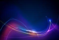 传染媒介设计在蓝色背景的通信techno 数字式未来派技术 向量例证