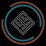 传染媒介迷宫摘要-难题labyrint标志 向量例证