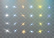 传染媒介透明阳光特别透镜火光光线影响 圣诞节抽象样式 闪耀的不可思议的微尘 皇族释放例证