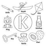 传染媒介逗人喜爱的孩子字母表 皇族释放例证