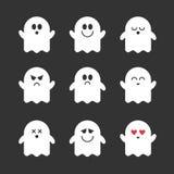 传染媒介逗人喜爱的鬼魂的汇集 库存照片