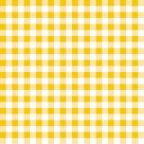 黄色和白色格子花呢披肩传染媒介背景 无缝的重复方格的样式 库存例证
