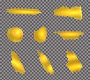 传染媒介金油漆冲程设置了o透明背景 向量例证