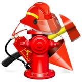 传染媒介防火与消防栓的设备概念 向量例证