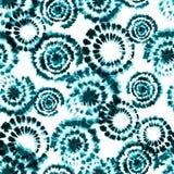 传染媒介领带染料shibori印刷品 无缝的手拉的模式 库存例证