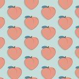 传染媒介鲜美果子样式用桃子 异乎寻常的时尚食物图画例证 甜自然水多的有机现代印刷品 库存例证