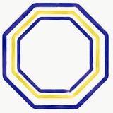 传染媒介黄色和蓝色三角 免版税库存图片