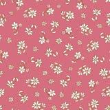 传染媒介黑暗的桃红色手拉的花重复样式 适用于缎带包装、纺织品和墙纸 库存例证