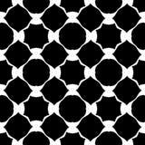 传染媒介黑白摘要,无缝的大胆的另外形状样式,植物群设计 库存例证