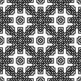 传染媒介黑白无缝的样式设计 免版税图库摄影