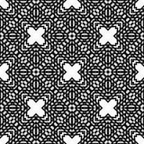 传染媒介黑白无缝的样式设计 免版税库存图片