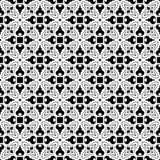 传染媒介黑白无缝的样式设计 图库摄影