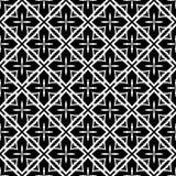 传染媒介黑白无缝的样式设计 库存图片