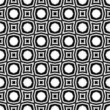 传染媒介黑白无缝的样式设计 库存照片