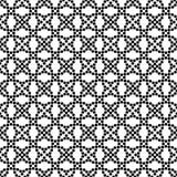 传染媒介黑白无缝的花卉圆点样式设计 免版税库存照片