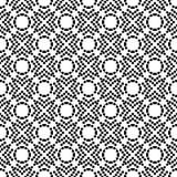 传染媒介黑白无缝的花卉圆点样式设计 图库摄影