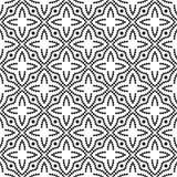 传染媒介黑白无缝的花卉圆点样式设计 库存照片