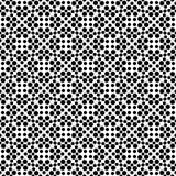 传染媒介黑白无缝的花卉圆点样式设计 免版税库存图片