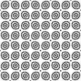 传染媒介黑白无缝的花卉圆点样式设计 库存图片
