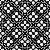 传染媒介黑白色无缝的减速火箭的抽象样式 免版税库存照片