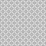 传染媒介黑白色重复设计 免版税库存照片