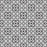 传染媒介黑白色重复设计 免版税图库摄影