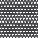 传染媒介-与心脏的无缝的方格花布样式在白色 向量例证