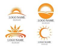 传染媒介-太阳爆炸星象商标和标志 库存照片