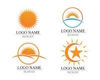 传染媒介-太阳爆炸星象商标和标志 免版税库存照片