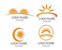 传染媒介-太阳爆炸星象商标和标志 库存图片