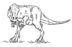 传染媒介-恐龙 免版税库存照片
