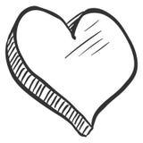 传染媒介Abstact爱标志-心脏剪影Illustation 向量例证
