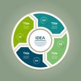 传染媒介infographic的圈子箭头 循环的模板 库存照片