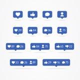 传染媒介Tooltip讲话泡影象,不同于,追随者,评论,通知,心脏,用户象集合 人脉象逆彻尔 皇族释放例证
