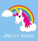 传染媒介Unicorn In The Sky公主 库存例证