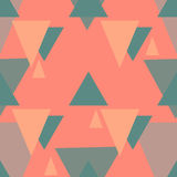 传染媒介三角无缝的样式 免版税库存图片