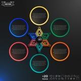 传染媒介与五颜六色的rhombs的infographics设计 免版税库存图片