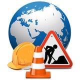 传染媒介与地球的修理概念 免版税库存照片