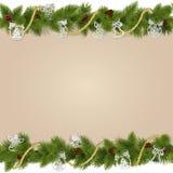 传染媒介与装饰的圣诞节背景 免版税库存照片