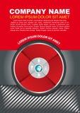 传染媒介与infographic圈子的小册子背景 免版税库存图片