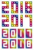 传染媒介与LED的2017,2018年 免版税库存照片