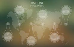 传染媒介世界地图时间安排例证 库存照片