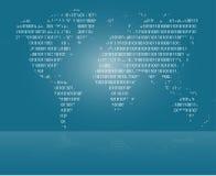 传染媒介世界地图背景,数字式世界 免版税库存图片