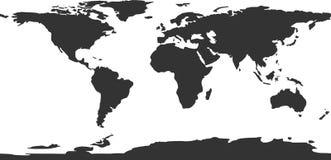 传染媒介世界地图 免版税图库摄影